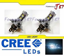 CREE LED 50W HS1 12V WHITE 6000K TWO BULB HEADLIGHT MOTORCYCLE BIKE JDM OFF ROAD