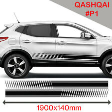 Nissan Qashqai Racing Side Stripes Stickers Decal Tuning Car Graphics