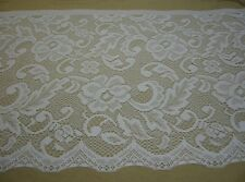 """WHITE LACE 15"""" wide x 36"""" length Polyester Curtains Valance Veils Clothing NEW"""