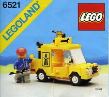 LEGO EMERGENCY TRUCK REPAIR 6521 Set Classic Town 1x minifig utility vehicle