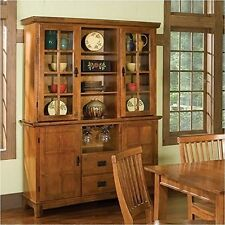 Home Styles  Arts And Crafts Buffet And Hutch Cottage Oak Finish Cottage Oak NEW