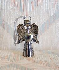 Angel Christmas Ornament Bell Heart Angel Four Inches