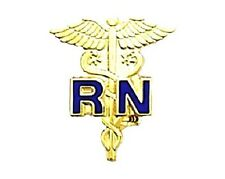 RN Caduceus Pin Registered Nurse Medical Emblem Graduation Ceremony Pins 801C