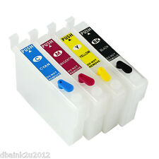 4 Pack Refillable Epson T200 T200XL  Ink Cartridges with Auto Reset Chip