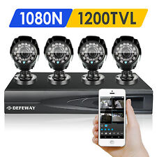 DEFEWAY Outdoor 1500TVL 1080N HD CCTV Home Surveillance Security Camera System
