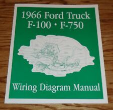 1966 Ford Truck F100 - F750 Wiring Diagram Manual Brochure 66