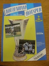 06/03/1985 Tottenham Hotspur v Real Madrid [UEFA Cup] (Creased). Item appears to