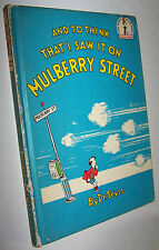 Vintage 1964 And to Think That I Saw it on Mulberry Street by Dr Seuss HC Book