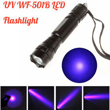 UV WF-501B CREE LED 365NM Ultra Violet Blacklight Flashlight Torch Light Lamp UK