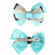 Disney Aladdin Jasmine Cosplay Hair Bow Pin Clip Princess Costume Dress Up NWT