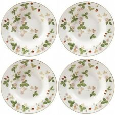 Wedgwood Wild Strawberry Rim Soup Bowl Plate 8 Inch (4) Bowls New Made In UK