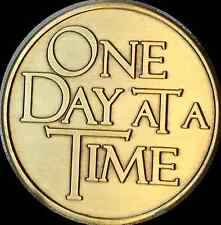 Recovery Begins With one Sober Hour Bronze Medallion Chip One Day At A Time AA