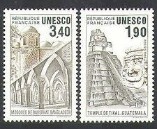 France (UNESCO) 1986 Temple/Buildings/Architecture/Heritage 2v set (n37106)