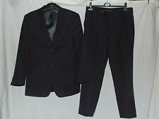 """Mens 2 Piece Stripe Suit By George Jkt 38S Trousers 32W With 26.5"""" Inside Leg"""