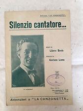 SPARTITO MUSICALE SILENZIO CANTATORE PARISI L. BOVIO G. LAMA 1922