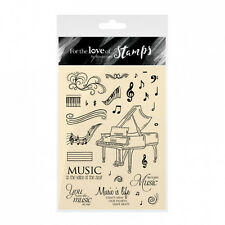 HUNKYDORY For the Love of Stamps SAY IT WITH MUSIC FTLS137 Treble Bass Piano