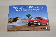 86113) Peugeot 106 Klima - Österreich - Prospekt 02/1999
