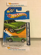 '67 Ford Mustang Coupe #116* Green Walmart Only * 2012 Hot Wheels * G19
