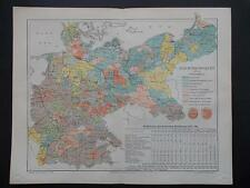 Meyers Lexikon Antique Map-REICHSTAGWAHLEN-Meyers-Original Lithografie 1896