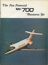 HAWKER SIDDELEY HS125-700 MANUFACTURERS SALES BROCHURE CUTAWAY PRIVATE BUSINESS