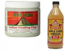 Aztec Secret Indian Healing Clay 1 Lb and Bragg Apple Cider Vinegar 16 Oz Set