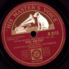 DUKE ELLINGTON &  HIS ORCHESTRA Dusk / Blue goose  Schellackplatte 78rpm  X1977