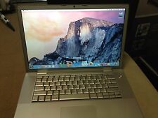 "APPLE MACBOOK PRO 15.4"" INTEL MAC OS X EL CAPITAN MICROSOFT OFFICE WEBCAM LAPTOP"