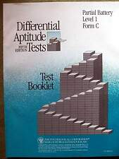 Differential Aptitude Tests 5th Ed. Partial Battery Level 1 Form C Test Booklet