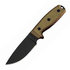 Ontario Knife Company RAT-3 1095 Serrated Fixed Blade w/ Green Sheath 8633