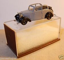 MICRO BREKINA HO 1/87 DKW F7 DECOUVRABLE CABRIOLET OUVERT GRISE IN BOX BIS