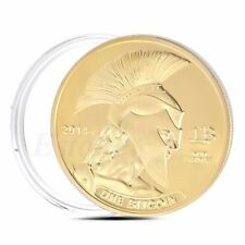 Gold Plated Titan Commemorative Coin BTC Bitcoin Collectible Collection