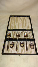 Vintage Boxed Set Of 6 Ornate Silver Plated Tea Spoons - HF & Co