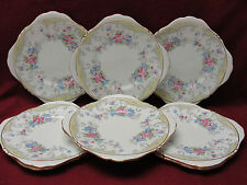Set of Eight (8) ROYAL GRAFTON CHINA - STRATHMORE - SQUARE DESSERT PLATES
