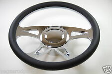 "14"" Chrome Aluminum steering wheel CAROUSEL GM chevy custom half wrap inch"