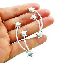 Ear Cuff 925 Sterling Silver Celestial Star Stick Earrings