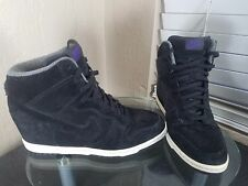 Nike Dunk Sky Hi Womens Size 8.5 Black Suede Shoes Boots