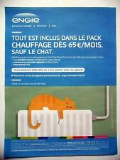PUBLICITE-ADVERTISING :  ENGIE pack chauffage  2016 chat,radiateur