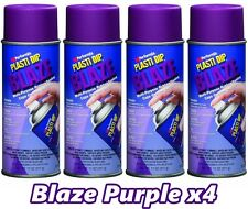 Performix Plasti Dip Blaze Purple 4 Pack Rubber Coating Spray 11oz Aerosol Cans