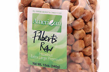 12oz Gourmet Style Bag of Extra-Large Premium Raw Filberts/Hazelnuts [3/4 lb.]