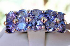 REDUCED!  3.70cts Genuine AA Tanzanite 925 Sterling Silver Ring Size 6