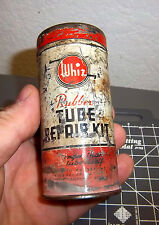 Whiz Rubber Tube Repair Kit Vintage Tin, very cool older collectible