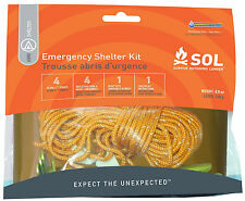 SOL Emergency Shelter Kit Blanket Stakes Rope-AMK Scouts Camping Survival Hiking