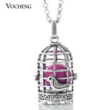 Vocheng Engelsrufer Birdcage Necklace Aroma Locket Stainless Steel Chain VA-095