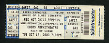 2003 Red Hot Chili Peppers Unused Full Concert Ticket Chula Vista CA By The Way