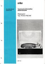 Service Manual-Anleitung für Braun PS 500/PSQ 500