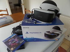 Playstation VR Virtual Reality Headset.  PSVR PS4  Hardly Used.  Inc. VR Worlds