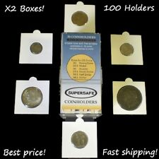 Self Adhesive Coin Flips Supersafe 2x2 50 x2 100 Holders Assorted Sizes USA Free
