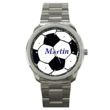FOOTBALL SOCCER BALL PERSONALISED GIFT SPORTS WATCH ***ANY NAME YOU WANT***