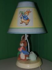 Beatrix Potter Peter Rabbit Nursery Lamp Rare Luv N' Care Edition EUC Decor 2001