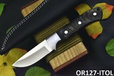 Custom D2 Tool Steel Hunting Knife Handmade With Rams Horn Handle (OR127-K)